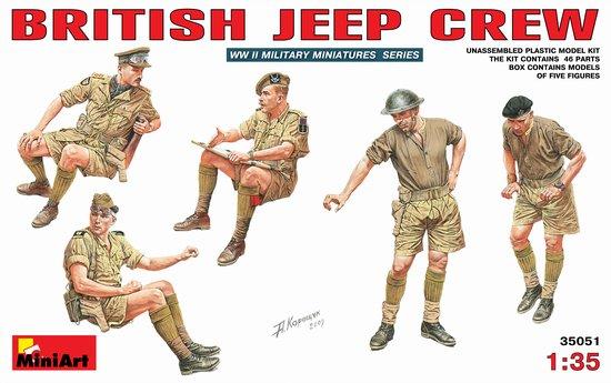 Image 0 of Miniart Models 1/35 British Jeep Crew (5)