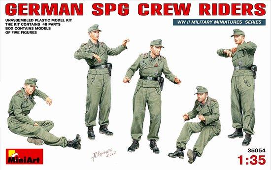 Image 0 of Miniart Models 1/35 German SPG Crew Riders (5)