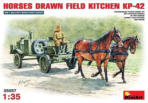 Image 0 of Miniart Models 1/35 KP42 Soviet Horse Drawn Field Kitchen