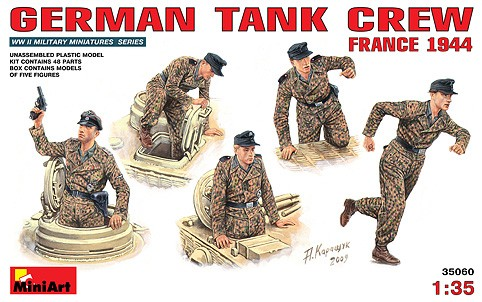Image 0 of Miniart Models 1/35 German Tank Crew France 1944 (5)