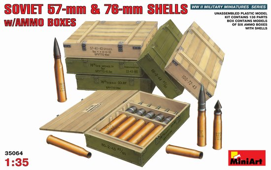 Image 0 of Miniart Models 1/35 Soviet 57mm & 76mm Shells w/Ammo Boxes
