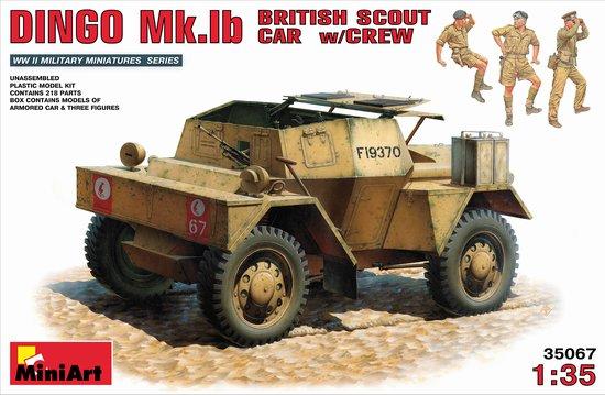 Miniart Models 1/35 Dingo Mk Ib British Scout Car w/3 Crew