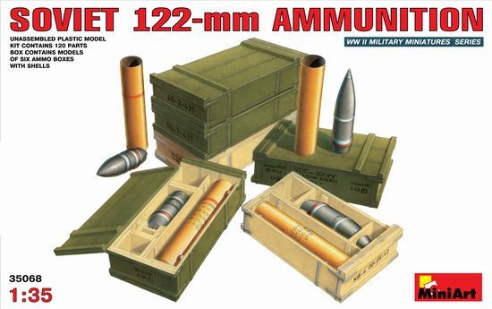 Image 0 of Miniart Models 1/35 Soviet 122mm Ammunition & Boxes