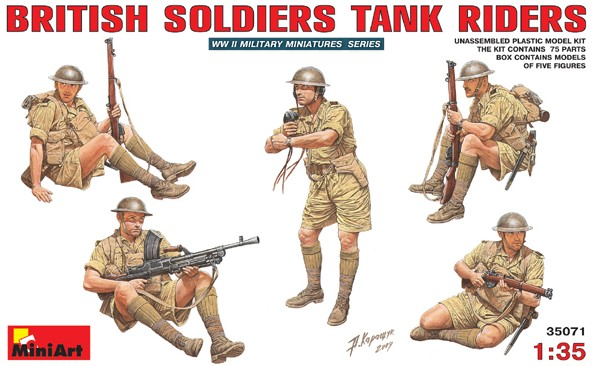Image 0 of Miniart Models 1/35 British Tank Riders (5)