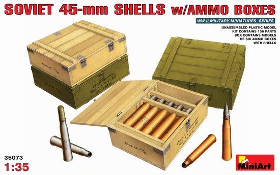 Image 0 of Miniart Models 1/35 Soviet 45mm Shells w/Ammo Boxes