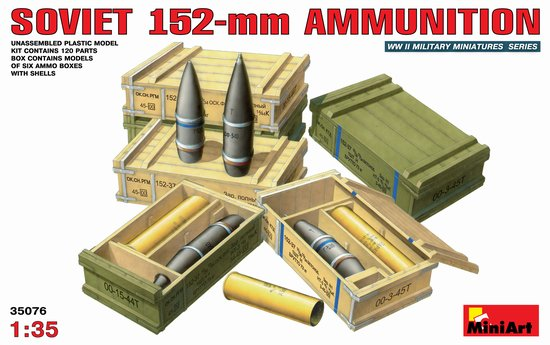 Image 0 of Miniart Models 1/35 Soviet 152mm Ammunition w/Ammo Crates