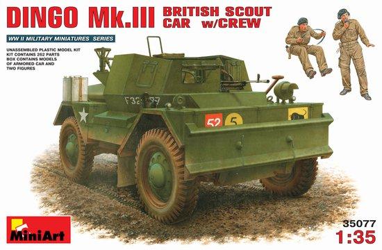 Miniart Models 1/35 Dingo Mk III British Scout Car w/2 Crew