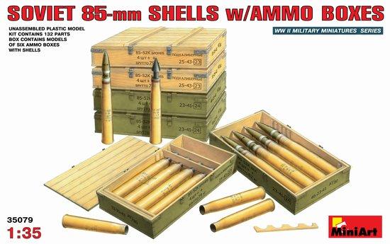 Image 0 of Miniart Models 1/35 Soviet 85mm Shells w/Ammo Crates
