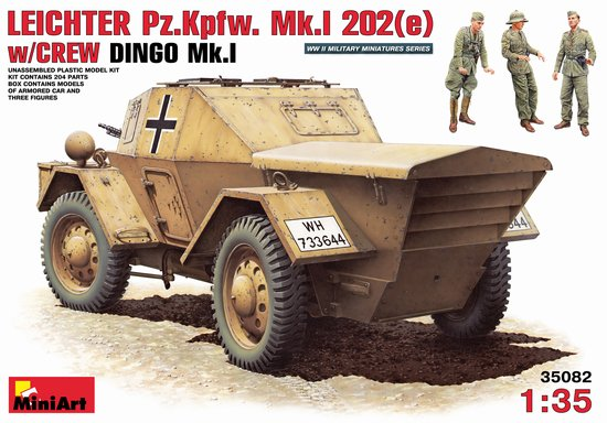 Image 0 of Miniart Models 1/35 Leichter PzKpfw Mk I 202(e) Armored Car w/3 Crew