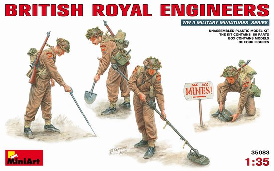 Image 0 of Miniart Models 1/35 WWII  British Royal Engineers (4)