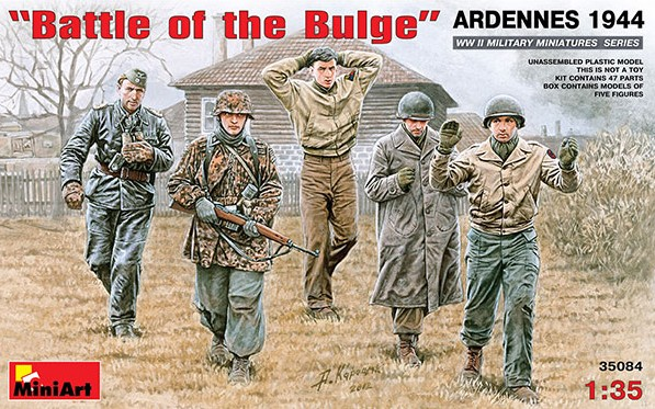Miniart Models 1/35 Battle of the Bulge Soldiers Ardennes 1944 (5)