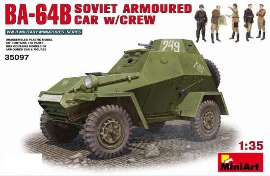 Miniart Models 1/35 BA64B Soviet Armored Car w/5 Crew (D)