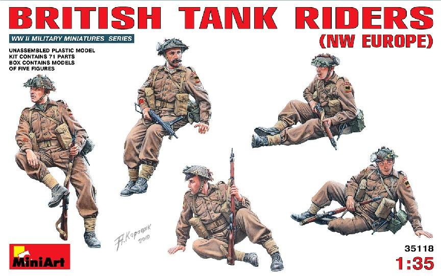 Image 0 of Miniart Models 1/35 British Tank Riders NW Europe (5)