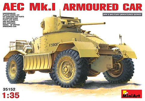 Miniart Models 1/35 AEC Mk I Armored Car