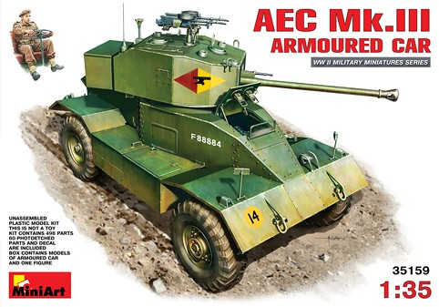 Image 0 of Miniart Models 1/35 AEC Mk III Armored car