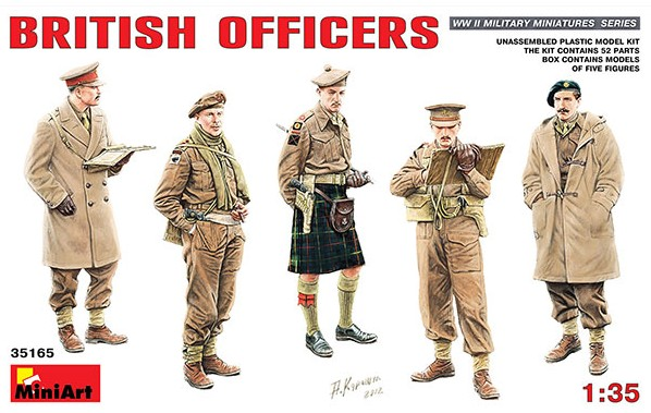 Miniart Models 1/35 British Officers (5)