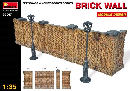 Miniart Models 1/35 Brick Type Wall Module Design (Re-Issue)