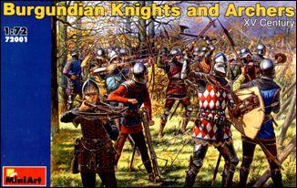 Miniart Models 1/72 XV Century Burgundian Knights & Archers (48)