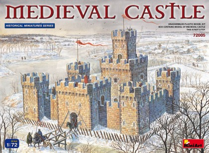 Miniart Models 1/72 XII-XV Century Medieval Castle w/High Towers