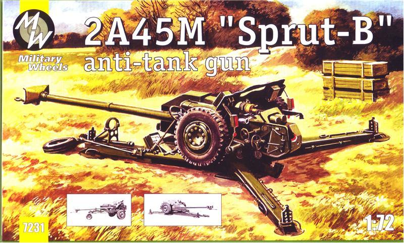Military Wheels Models 1/72 2A45M Sprut-B Anti-Tank Gun