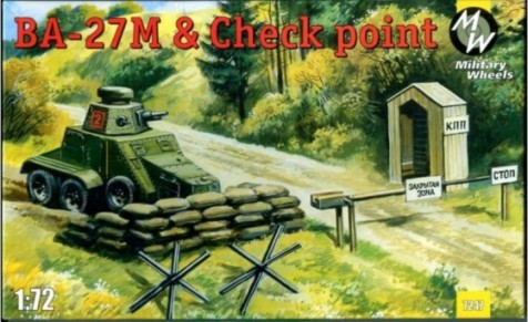 Military Wheels Models 1/72 Ba27M Truck w/Gun Turret on GAZ-AAA Chassis & Check