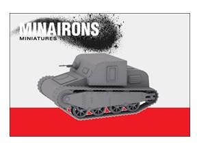 Image 0 of Minirons Models 1/72 Spanish Civil War: IGC Sadurni Tank (1) (Resin)