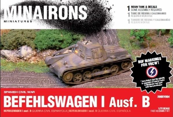 Minirons Models 1/72 Spanish Civil War: PzBefehslwagen I B (1) (Resin)