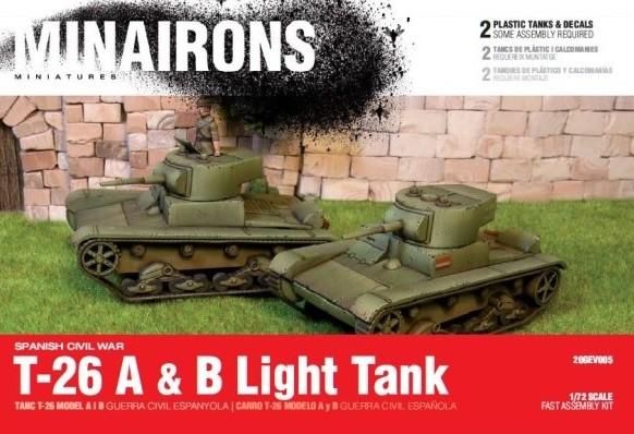 Minirons Models 1/72 Spanish Civil War: T26A/B Light Tank (2) (Plastic)