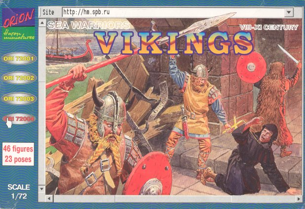 Image 0 of Orion Figures 1/72 Vikings Sea Warriors VIII-XI Century (46)