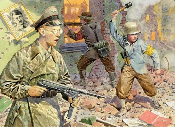 Orion Figures 1/72 WWII Volkssturm Soldiers w/Guns 1945 (46)