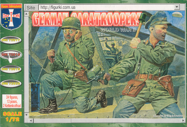 Orion Figures 1/72 WWII German Paratroopers (24)
