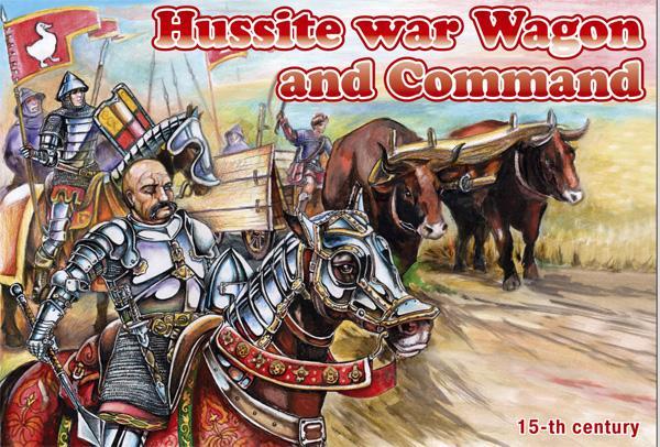 Orion Figures 1/72 Hussite War Wagon & Command (Wagon, Oxen, 6 Horses & 6 Figure