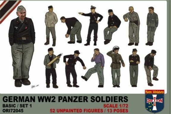 Orion Figures 1/72 WWII German Panzer Soldiers (52)