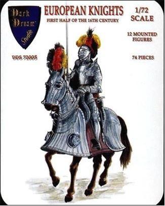 Orion Figures 1/72 Dark Dream Studio: European Knights 1st Half  XVI Century (12