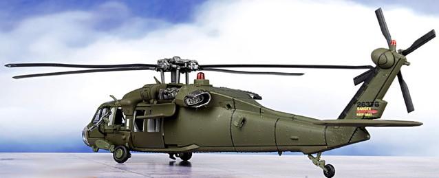 Scale model 1:72 Sikorsky UH-60 Black Hawk helicopter