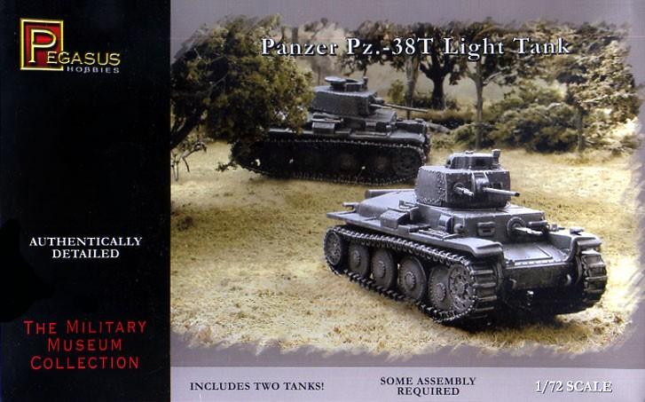 Pegasus  1/72 Panzer 38t Tank (2) (Snap)