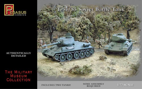 Pegasus 1/72nd Scale WWII German Tiger II Heavy Tanks Set No. 7627