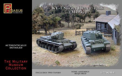 Pegasus  1/72 Soviet KV1 Mod 1942 Heavy Tank (2) (Snap)