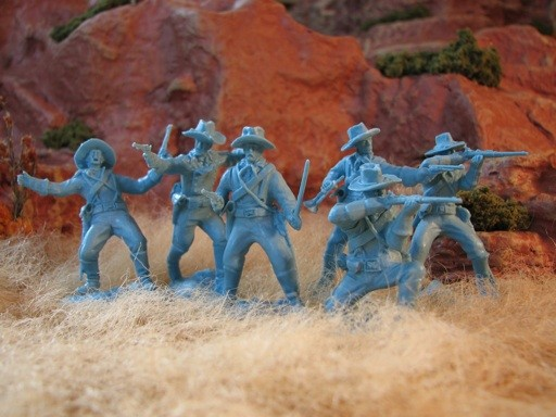 Image 0 of Paragon Miniatures 1/32 US Cavalry Dismounted Boots & Saddles Figure Set #1 (12)