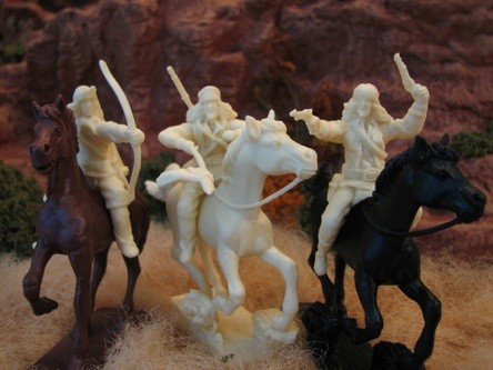 Image 0 of Paragon Miniatures 1/32 Apache Indians Mounted w/Horses Figure Set #3 (12) (Bagg