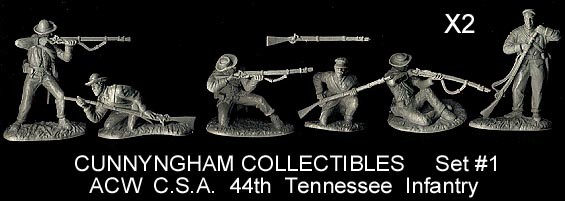 Image 0 of  American Civil War Plastic 1/32 Confederate 44th Tennessee Infantry Figure Play