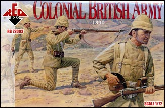 Red Box Figures  1/72 Colonial British Army 1890 (12)