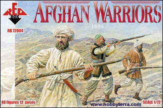 Red Box Figures  1/72 Afghan Warriors 1890 (48)
