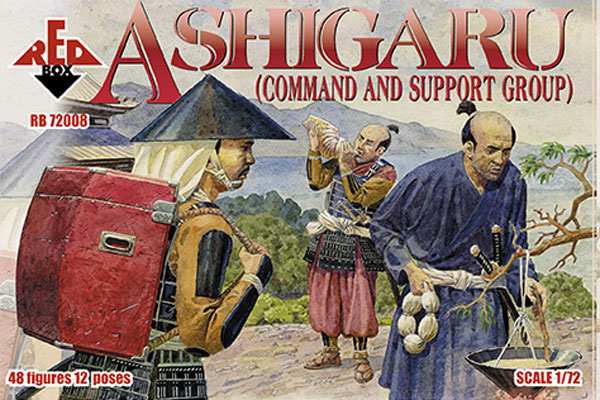 Red Box Figures  1/72 Ashigaru Command & Support Group (48)