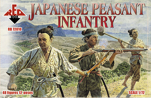 Red Box Figures  1/72 Japanese Peasant Infantry (48)
