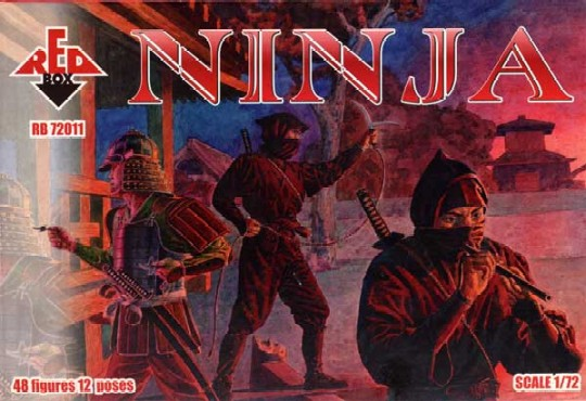Red Box Figures  1/72 Ninja Soldiers (48)