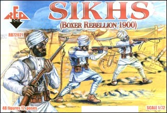 Red Box Figures  1/72 Sikhs Fighters Boxer Rebellion 1900 (48)
