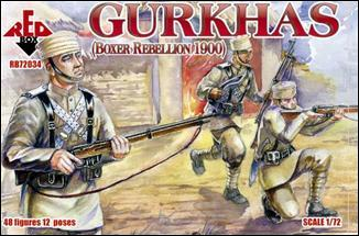 Red Box Figures  1/72 Gurkhas Soldiers Boxer Rebellion 1900 (48)