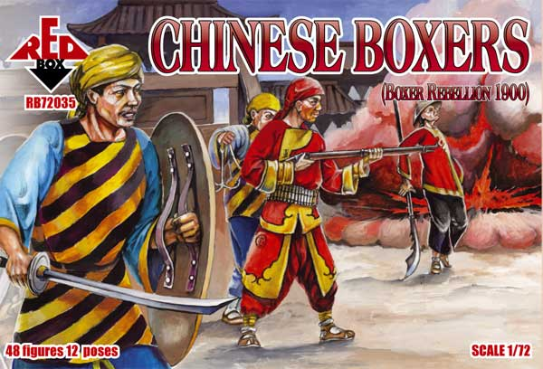 Red Box Figures  1/72 Chinese Boxers Boxer Rebellion 1900 (48)