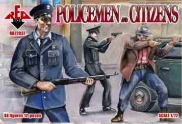 Red Box Figures  1/72 Policemen & Citizens (48)